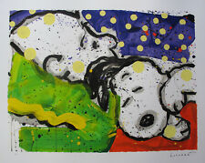 TOM EVERHART BORING SNORING Hand Signed Limited Edition Lithograph CHARLIE BROWN