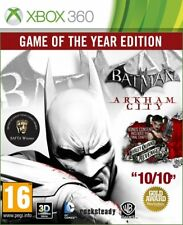 XBOX 360 Batman Arkham City Game of the Year Edition GOTY habillées boxed game