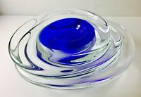 Luxurious Murano Italian Art Glass Sculpted Bowl Signed Licio Zanetti