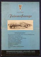 Original Prospekt Feinmeßzeige Keilpart um 1930 Handwerk Technik Industrie sf