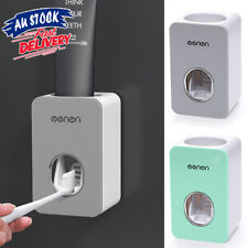 Automatic Bath Wall Mounted Dispenser Toothbrush Stand Toothpaste