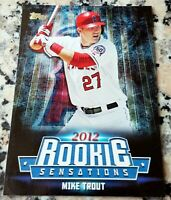 MIKE TROUT Topps 2012 Rookie Sensations HOT Los Angeles Angels ROY AS MVP $$$