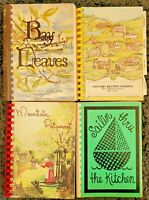 4 SPIRAL COOKBOOKS LOT COMMUNITY LOCAL COOK BOOK VTG HTF RECIPES