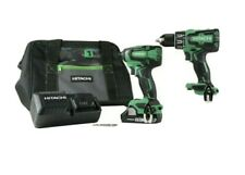 NEW Hitachi 18V Cordless Hammer Drill & Impact Driver Kit with lifetime warrant!