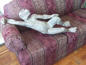 rare antique /vintage very large hand carved monkey