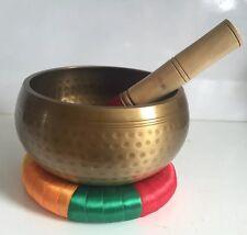 Large Hand Hammered Singing Bowl Cushion 7 Metal 6.5''Antique Meditation Gong