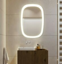LED Illuminated Bathroom Mirror [IP44] Wall Mounted Light Up With Frame