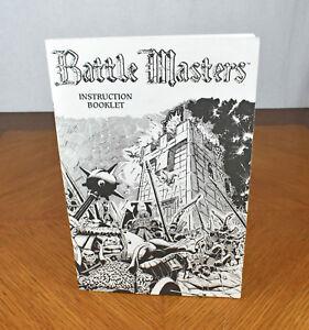 Instructional Booklet Manual Battle Masters Milton Bradley Replacement Part