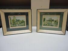 vintage Paris Prints St. Germaine Des Paris and Notre Dame Paris shabby cottage