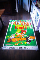 BAMBI Walt Disney 4x6 ft Bus Shelter D/S Movie Poster Rerelease 1993