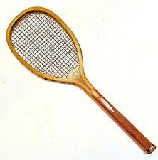 """Spalding """"The Geneva"""" Checkered Handle Antique Tennis Racquet c1896 - Scarce"""