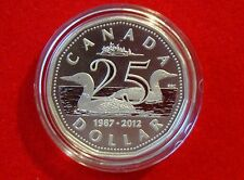 2012 25th Anniversary of the Loonie - Fine Silver Loonie