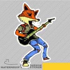 El guitarrista Fox en acción jugando con Ventana Pegatina Calcomanía Vinilo Coche Furgoneta Bici 2380