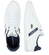 New Lacoste Men Shoes Chaymon 0120 2 White Navy Leather Casual Sneakers Shoes