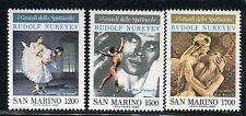 SAN MARINO 1989 NUREYEV-RUSSIAN BALLET/DANCER/ART/RODOLFO VALENTINO/PEOPLES  MNH