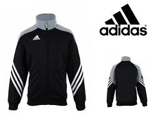Boys adidas Sereno 14 Black & Sliver Tracksuit top Size 140 YM 9-10 Years