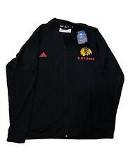 Adidas Chicago Blackhawks Mens Bomber Track Jacket Long Sleeve Full Zip Size Xl