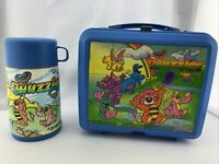 Vintage 1985 Wuzzles Aladdin Lunch Box - Hasbro / Walt Disney with Thermos