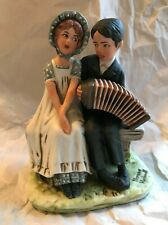 1st Ed. 1973 ~ Norman Rockwell Figurine ~ Couple / Park Bench / Accordian ~ Mint