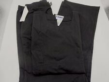 Medical Scrub Set Landau Antimicrobial Scoop Neck Black XS  NWT