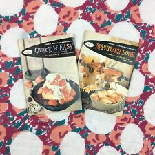 Lot of 2 Vintage 1950s Good Housekeeping Cookbooks Appetizer Book Quick N Easy