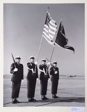 "Vintage Photograph Military ""Stars & Stripes Forever"" Black & White Color Guard"