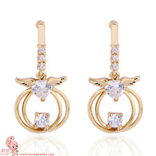 angle wing 18K Anti-allergic Environmentally Copper Zircon Jewelry Drop Earring
