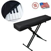 Black Instrument Covers For 61/88 Key Electronic Digital Piano Keyboards Covers
