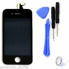 LCD Front Digitizer Glass Black Touch Screen Replacement Assembly for iphone 4S