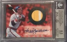 REGGIE JACKSON 2005 UD COOPERSTOWN CALLING AUTO 2 COLOR JERSEY CARD JSA