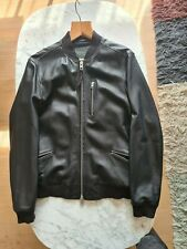 All Saints Leather Utility Bomber Jacket Medium New With Tags Unworn