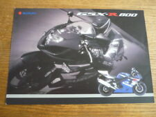 SUZUKI GSX -R600 MOTORBIKE BROCHURE 2004 - POST FREE (UK)