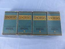 Ancien 4 paquets 10 cigarillos SENORITAS BRESIL SEITA vide prix : 40 Frs  WW2
