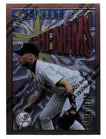 1996 Topps Finest #92 Derek Jeter card W/ peel off still on Yankees HOF