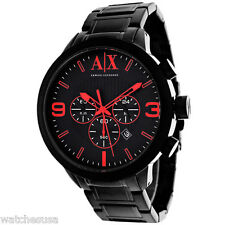 Armani Exchange Atlc Chronograph Black Dial Black Ion-plated Mens Watch AX1352