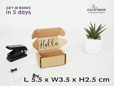 Mini Shipping Postal Mailing Jewellery Boxes Cardboard Ring Packaging Kraft Box