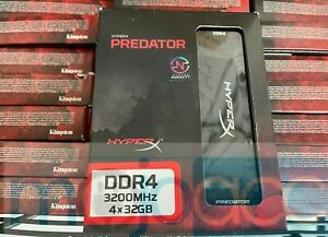 NEW, SEALED! KINGSTON HYPERX PREDATOR DDR4 3200MHz 4 X 32GB HX432C16PB3AK4/128