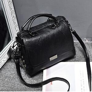 Schwarz Damentasche Leder Handtasche Shopper Cross Damentaschen Schultertasche