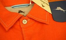 NWT $118 Tommy Bahama Long Sleeve Shirt Mens M L XL Orange Flannel Button NEW