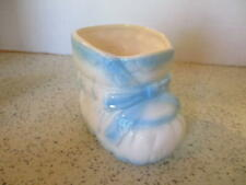 "VINTAGE CERAMIC  BABY BOOTIE  PLANTER, ""INARCO"" LABEL, MID-CENTURY MODERN IMPORT"