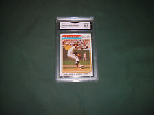 OAKLAND A's 1974 TOPPS GRADED NM-MT+ 8.5 '73 World Series Game #1