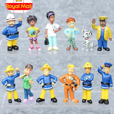 12pcs/set Fun Fireman Sam PVC Action Figures Cartoon Doll Kids Toy Gift