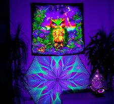 Blacklight Backdrop, UV Wall Hanging, Trippy Wall Art, Psychedelic Tapestry
