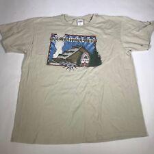 Vintage 90s Yellowstone National Park, Old Faithful Inn Xl S/S T Shirt [Dg12]