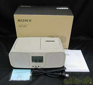 SONY CD Radio Cassette Recorder CFD-S401 Beige FM / AM / Wide FM From Japan DHL