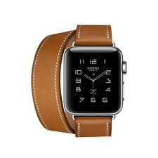 SEALED 38mm HERMES Apple Watch SERIES 2 Fauve Brown Double Tour *Ships Same Day*