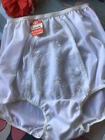 1950's vintage nylon satin tricot SATINETTE panties - nylon gusset - Size 6 NWT