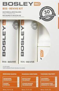 Bosley BosRevive Shampoo, Conditioner, & Hair Thickening Formula 30 Day Set