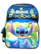 "NEW ARRIVE Disney Lilo and Stitch 16"" Girls Large School Backpack"
