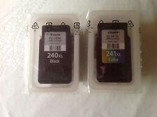 2-Pack Genuine CANON Ink Cartridges / PG-240XL Black & CL-241XL Color